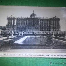 Postales: POSTAL - MADRID - PALACIO REAL Y JARDINES DE SABATINI - EDICIONES F. MOLINA - NUEVA - PUBLICIDAD -. Lote 54985793