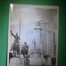 Postales: POSTAL - MADRID - MONUMENTO A CERVANTES Y EDIFICIO ESPAÑA - EDICIONES F. MOLINA - NUEVA - PUBLICIDAD. Lote 54985799