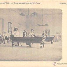 Postales: GUADARRAMA (MADRID).- SALÓN DE BILLAR DEL CASINO DE LA COLONIA DEL DR. RUBIO.. Lote 150957450
