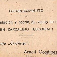 Postales - GRANJA EL CHOZO 8ZARZALEJO)- HORA DE RECOGIDDA - 55045704