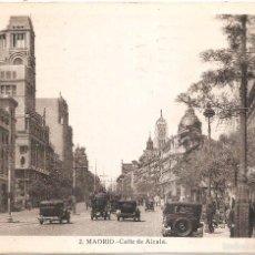 Postales: MADRID CALLE DE ALCALA 1933. Lote 55122996