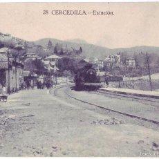 Postales: CERCEDILLA (MADRID): ESTACIÓN. EDICIÓN BAZAR DE CERCEDILLA. NO CIRCULADA (AÑOS 20). Lote 55126555