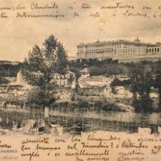 Postales: MADRID- EL MANZANARES- 90 HAUSER Y MENET, SIN DIVIDIR. Lote 55865547