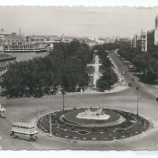 Postales: POSTAL FOTOGRAFICA ANTIGUA DE MADRID - PLAZA DE CIBELES ESCRITA EL 2 - 7 1953. Lote 56125081