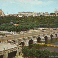Postales: 137 - MADRID - PUENTE DE SEGOVIA Y RIO MANZANARES - DOMINGUEZ - CIRCULADA - ED. 1964 -. Lote 56170491