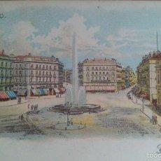Postales: MADRID, LITOGRAFIA FINALES SIGLO XIX. SIN DIVISION POSTAL. Lote 56278177