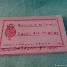 Postales: TARJETA POSTAL - 20 TARJETAS (LIBRITO) - EL ESCORIAL - CASITA DEL PRINCIPE.. Lote 56530963