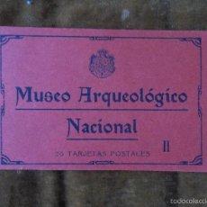 Postales: MUSEO ARQUEOLÓGICO NACIONAL II 20 TARJETAS POSTALES FOTOTIPIA HAUSER Y MENET 15X20 CM BLOQUE. Lote 56876461