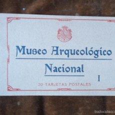 Postales: MUSEO ARQUEOLÓGICO NACIONAL I 20 TARJETAS POSTALES FOTOTIPIA HAUSER Y MENET 15X20 CM BLOQUE. Lote 56876479