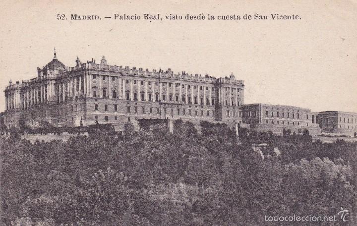 MADRID PALACIO REAL (ESCRITA) (Postales - España - Comunidad de Madrid Antigua (hasta 1939))