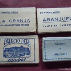 Cartes Postales: POSTALES ARANJUEZ-LA GRANJA-PALACIO REAL,4 LIBRILLOS.. Lote 57083809