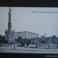 Postales: POSTAL MADRID. ESTATUA Y PLAZA DE COLÓN. . Lote 57098819
