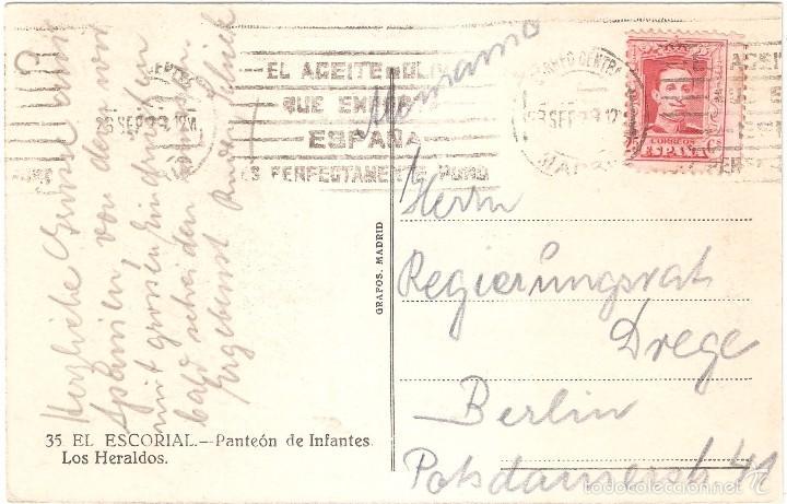 Postales: EL ESCORIAL PANTEÓN DE INFANTES LOS HERALDOS 1912 - Foto 2 - 57114104