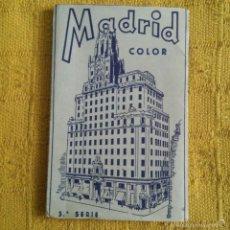 Postales: LIBRETA CON 10 POSTALES DE MADRID COLOR 3ª SERIE * PERFECTO * AÑOS 60.. Lote 57137465