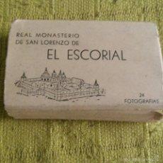Postales: 24 FOTOGRAMAS DEL REAL MONASTERIO DE SAN LORENZO DEL ESCORIAL EN BLANCO Y NEGRO * PERFECTO * 1960.. Lote 57137575