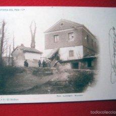 Postales: POSTAL MADRID HISTORIA DEL PAN-1ª Nº 7-EL MOLINO FOT LAURENT CIRCULADA SIN DIVIDIR 8348. Lote 57177955