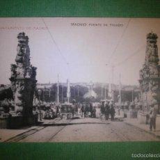 Postales: POSTAL - ESPAÑA - MADRID - AYUNTAMIENTO DE MADRID - PUENTE DE TOLEDO - HAUSER Y MENET - SIN EXCRIBIR. Lote 57312253