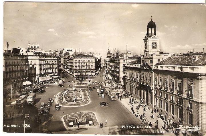POSTAL 124 MADRID PUERTA DEL SOL TALLERES ZERKOWITZ FOTÓGRAFO ESPAÑA CARTE ESPAGNE (Postales - España - Madrid Moderna (desde 1940))