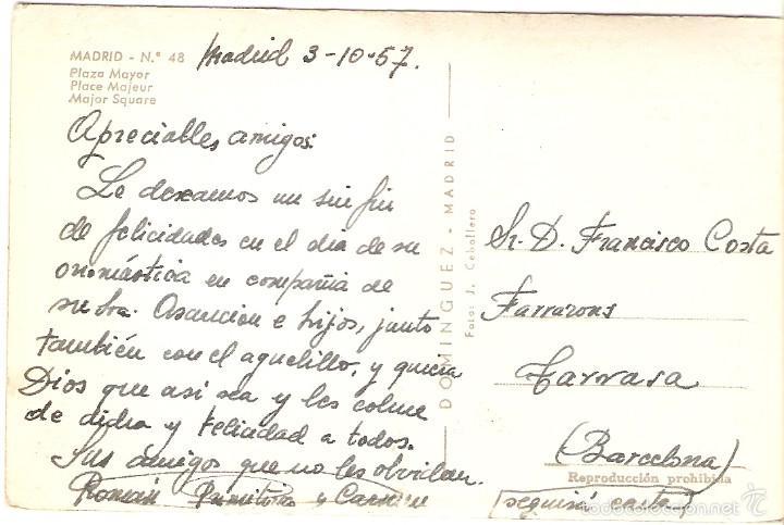 Postales: POSTAL 48 MADRID PLAZA MAYOR DOMINGUEZ FOTO CABALLERO ESPAÑA ESPAGNE SPAIN SPANIEN - Foto 2 - 57340196