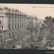 Postales: MADRID.PALACIO REAL Y CALLE BAILÉN.ED.BAZAR X.Nº 13.SIN CIRCULAR.. Lote 57539925