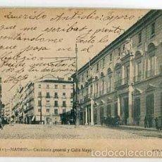 Postales: MADRID CAPITANIA GENERAL Y CALLE MAYOR FOT. LAURENT. SIN DIVIDIR. CIRCULADA. Lote 57583091