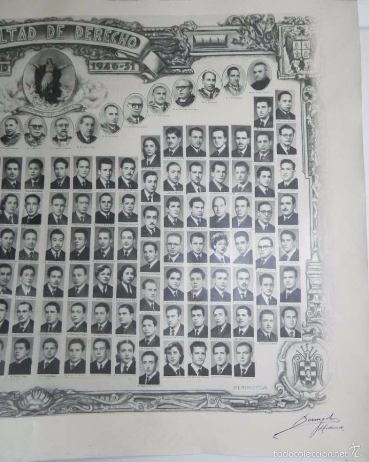 Postales: GRAN ORLA DEL CURSO FACULTAD DE DERECHO 1946-51. Universidad de Madrid. FOTOGRAFO BERINGOLA, MIDE 82 - Foto 3 - 57586831