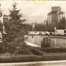 Postales: POSTAL 66 MADRID PALACIO REAL JARDINES HELIOTIPIA ARTISTICA ESPAÑOLA ESPAÑA ROYAL PALACE SPAIN. Lote 57593457