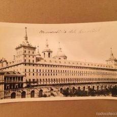 Postales: EL ESCORIAL - 2 FOTOGRAFIA S ANTIGUA S - 1920. Lote 57627834