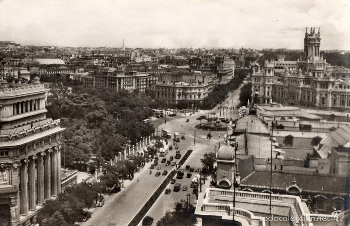 MADRID. VISTA PANORAMICA. CALLE DE ALCALA, CIBELES. CIRCULADA (Postales - España - Madrid Moderna (desde 1940))