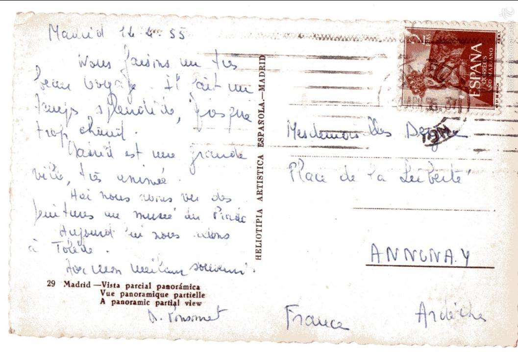 Postales: MADRID. VISTA PANORAMICA. CALLE DE ALCALA, CIBELES. CIRCULADA - Foto 2 - 57804121