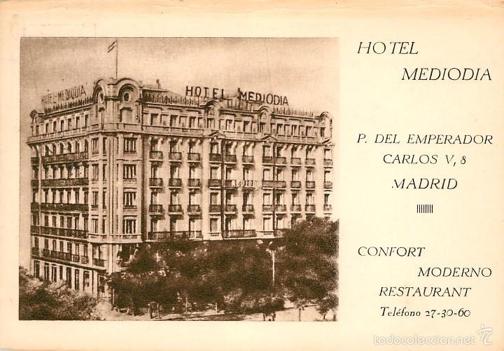 Madrid 23 Hotel Mediodia Comprar Postales Antiguas De La