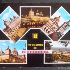 Postales: (43644)POSTAL ESCRITA,EL ESCORIAL; MONASTERIO,MADRID,MADRID,MADRID. Lote 58081671