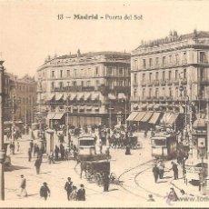 Postales: MADRID, PUERTA DEL SOL - EDICIONES T.G. Nº 13 - SIN CIRCULAR. Lote 58253894
