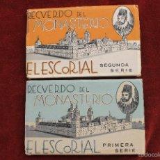 Postales: LOTE 2 ALBUM POSTALES RECUERDO DEL MONASTERIO EL ESCORIAL, MADRID. Lote 58274230