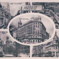 Postales: POSTAL RECUERDO DE MADRID, CINCO VISTAS. H.A.E. ESCRITA AL REVERSO. Lote 58361358