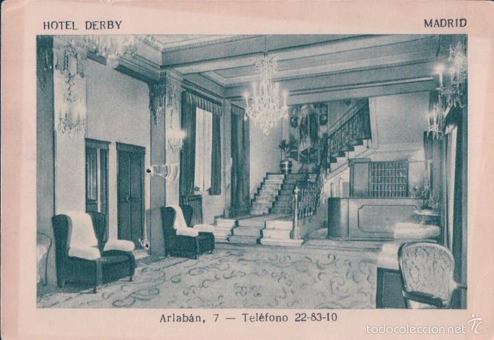 Postal Madrid Hotel Derby Arlaban7 Telefono Comprar Postales