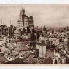 Postales: MADRID. VISTA DESDE EL EDIFICIO DE LA UNIÓN Y EL FENIX ESPAÑOL.. Lote 58429517