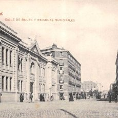 Postales: MADRID.- CALLE DE BAILÉN Y ESCUELAS MUNICIPALES. Lote 58465784