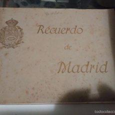 Postales: BLOC RECUERDO DE MADRID MUY ANTIGUO ¿AÑOS 20?. Lote 58532967