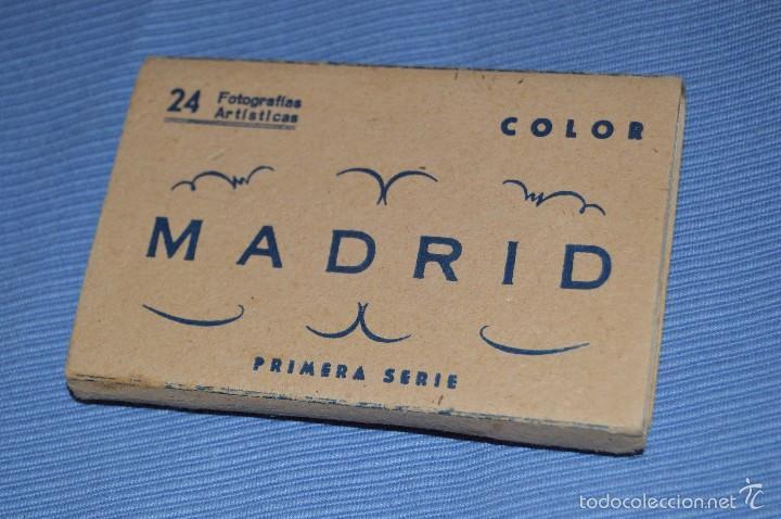 LIBRITO, 24 FOTOGRAFÍAS EN COLOR - RECUERDO DE MADRID - 1ª SERIE - FOTOGRAFÍAS ARTÍSTICAS (Postales - España - Madrid Moderna (desde 1940))