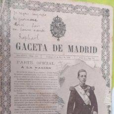 Postales: POSTAL PERIODICO LA GACETA DE MADRID, REY ALFONSO XIII POR FRANZEN. HAUSER Y MENET. Lote 58673014