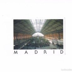 Postales: POSTAL ANTIGUA MADRID CIRCULADA ESTACION DE ATOCHA. Lote 58742782