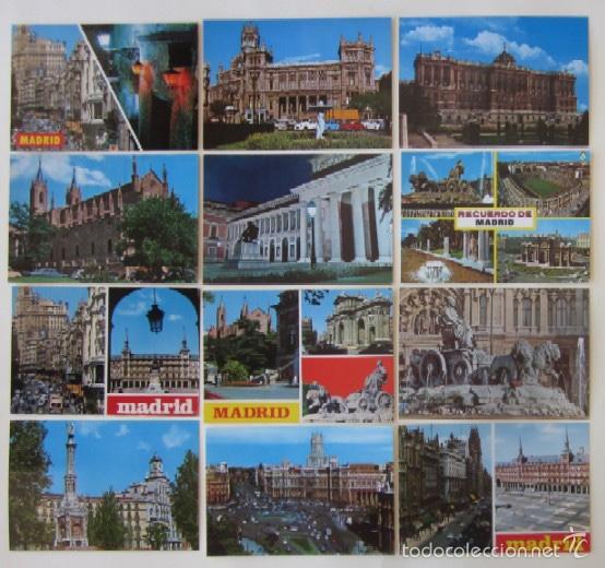 LOTE DE 12 POSTALES DE MADRID (Postales - España - Madrid Moderna (desde 1940))