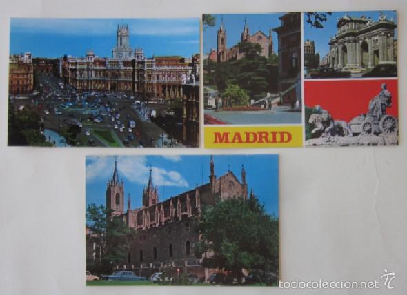 Postales: LOTE DE 12 POSTALES DE MADRID - Foto 4 - 59001960