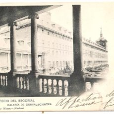 Cartes Postales: EL ESCORIAL. HAUSER Y MENET. DORSO SIN DIVIDIR. Lote 59828756