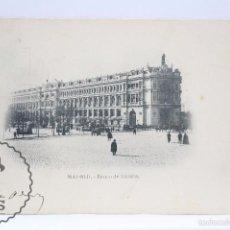 Postales: ANTIGUA POSTAL - MADRID. BANCO DE ESPAÑA - REVERSO SIN DIVIDIR - CIRCULADA. ESCRITA AL DORSO. Lote 59975783