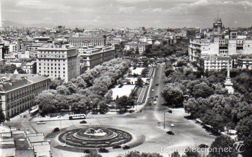 MADRID. VISTA AEREA DE NEPTUNO Y PASEO DEL PRADO. SIN CIRCULAR (Postales - España - Madrid Moderna (desde 1940))