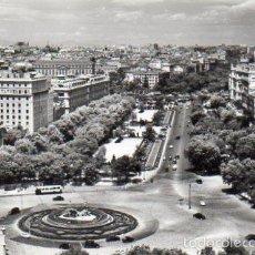 Postales: MADRID. VISTA AEREA DE NEPTUNO Y PASEO DEL PRADO. SIN CIRCULAR. Lote 59988427