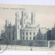 Postales: ANTIGUA POSTAL - 87. MADRID. HOSPITAL OBRERO - SIN CIRCULAR - MEDIDAS 14 X 9 CM. Lote 60030699
