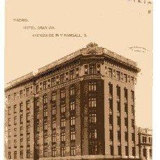 Postales: MADRID. HOTEL GRAN VIA. AVA. PI Y MARGALL. CIRCULADA. HAUSER MENET. Lote 60522707